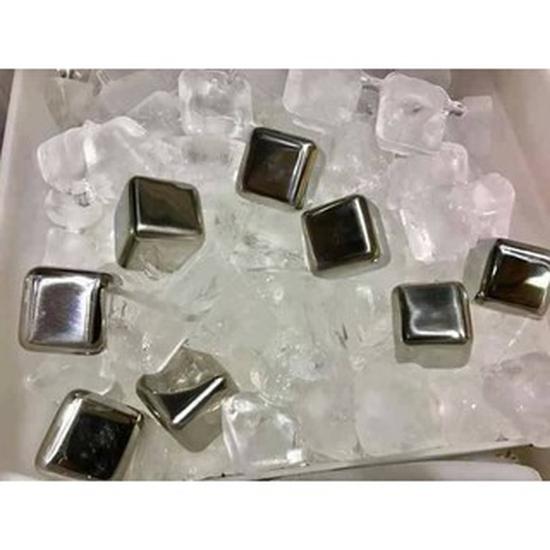Đá INOX304 làm lạnh đồ uống không tan 8 viên SSGP + Kèm Kẹp