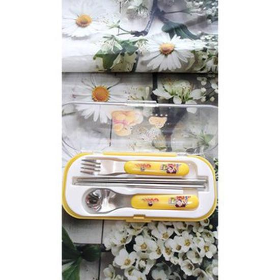 Bộ đũa, thìa và dĩa inox cho bé của Nhật Bản