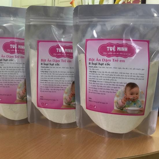 Bột ăn dặm trẻ em 8 loại hạt Tuệ Minh 500gr