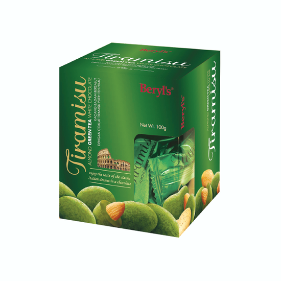 SÔCÔLA TIRAMISU ALMOND GREEN TEA 100G