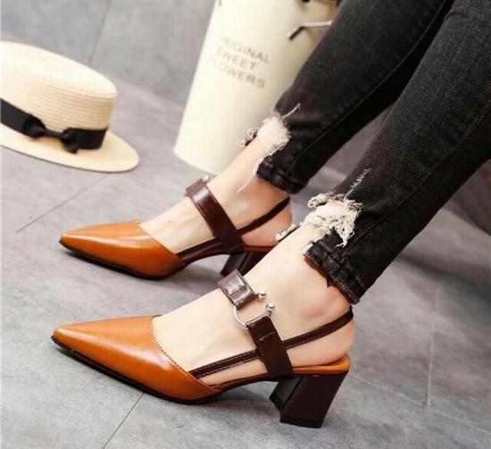 Sandal pha màu Hàn Quốc