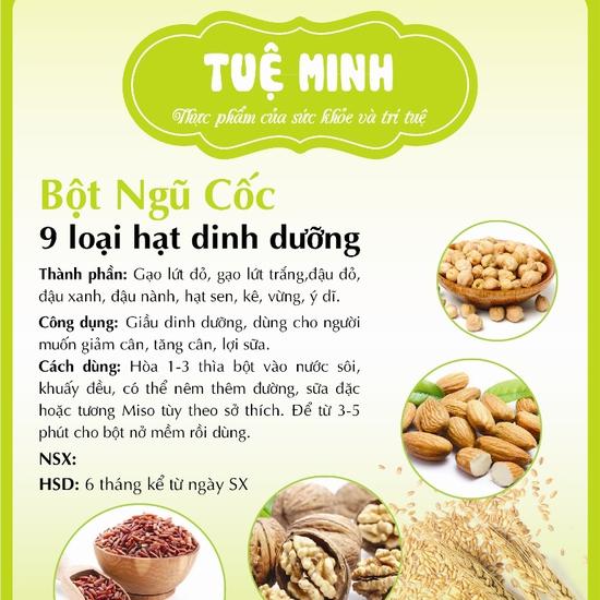 Bột ngũ cốc dinh dưỡng OHSAWA 9 loại hạt Tuệ Minh 500gr