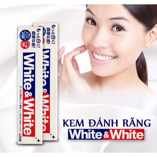 Kem đánh răng Nhật Bản Lion White and White