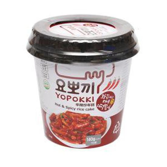 Bánh gạo Topokki siêu cay Yopokki (Cốc 140g)