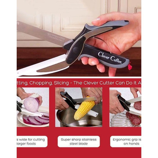 Dụng cụ kéo cắt rau củ đa năng clever cutter