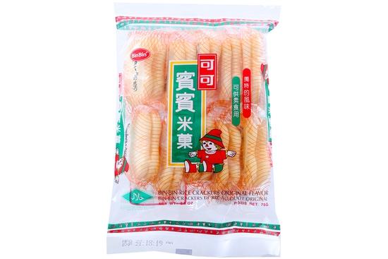 2 gói  Bánh gạo BinBin vị nguyên chất gói 75g