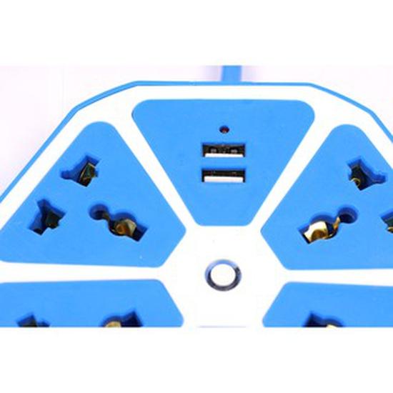 Ổ cắm điện: 2 cổng USB - 5 phích cắm sạc điện thoại