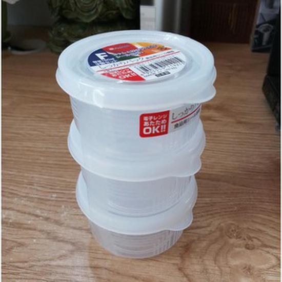 Set 3 hộp nhựa tròn Nakaya 180ml trữ đồ ăn dặm cho bé Hàng Nhật