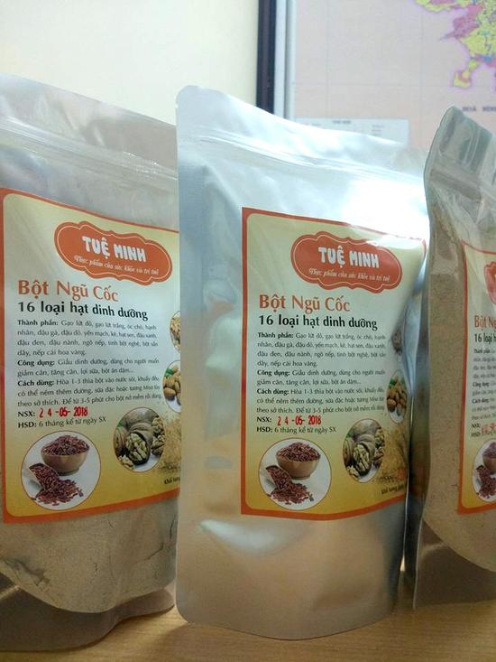 Bột ngũ cốc dinh dưỡng 16 loại hạt cao cấp Tuệ Minh 1kg