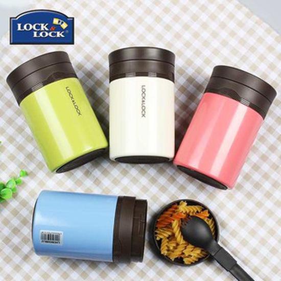 Bình giữ nhiệt Ủ cháo Food Jar Lock&Lock LHC8024 500ml màu hồng
