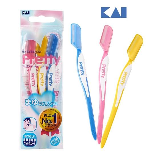 Set 3 dao cạo lông mày Pretty KAI hàng Nhật