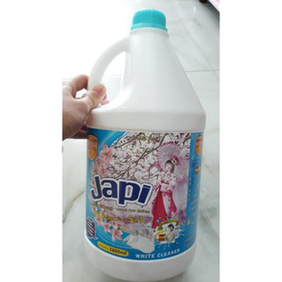 Nước giặt xả Japi 3,8l hương hoa anh đào đỏ Nhật Bản