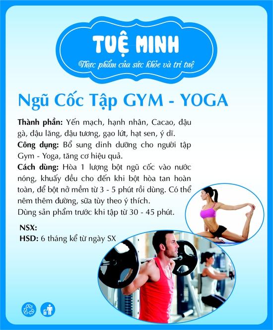 Bột ngũ cốc tập Gym – Yoga Tuệ Minh