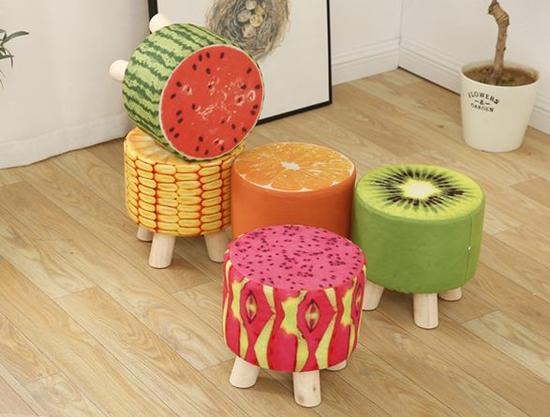 Ghế đôn hoa quả siêu đáng yêu sữ làm không gian nhà bạn thêm sinh động hơn