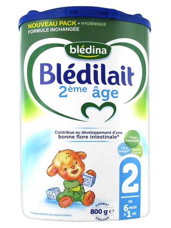 Combo 2 Hộp Sữa Bột Blédilait 900g/Hộp Số 2 Pháp
