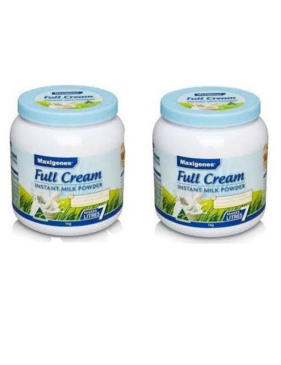 Combo 2 Hộp Sữa Tươi Dạng Bột Maxigenes Full Cream 1kg/Hộp Úc