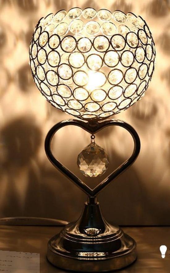 Đèn ngủ pha lê đẹp thiết kế hiện đại