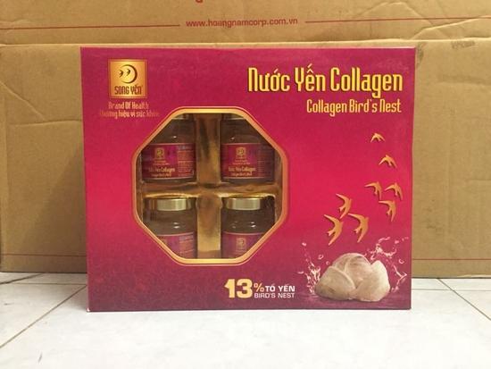 Nước Yến Collagen Song Yến Hộp 6 Lọ - YENCOLLAGEN