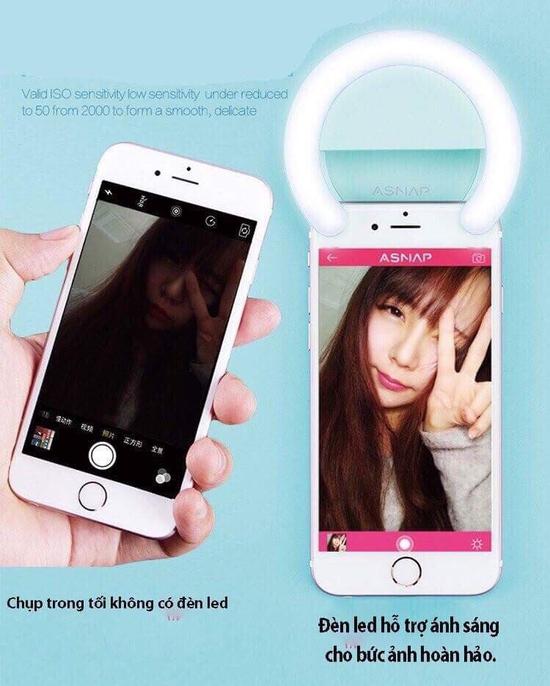 Đèn Led chụp ảnh selfie Hồng