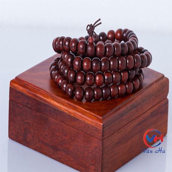 Vòng tay gỗ tử đàn Ấn Độ  8mm 108 hạt
