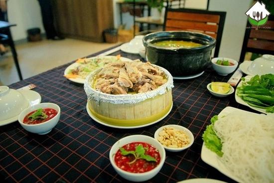 Set vịt trời đủ món cho 4 người Nhà hàng T - House