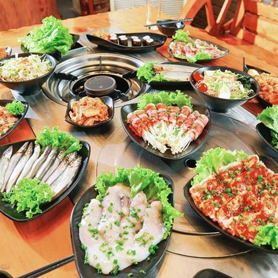 Buffet nướng Hàn Quốc ăn thả ga tại Nhà hàng Moon BBQ
