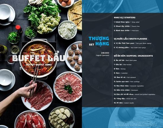 Buffet lẩu Thái hải sản - bò Mỹ Thượng hạng tại nhà hàng PP's BBQ & HOTPOT