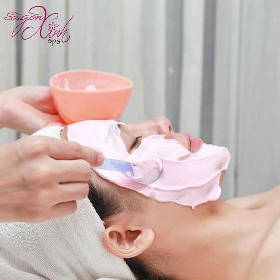 Siêu âm đẩy tinh chất +đắp mặt na Collagen chống nhăn, chống lão hóa tại Sài Gòn Xinh Spa
