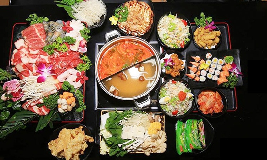 Butffet lẩu Nhật ăn thả ga đủ món ngon hấp dẫn tại Nhà hàng Ten Sushi