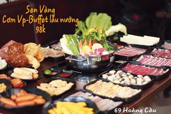 Buffet lẩu hoặc nướng Menu 129K siêu hấp dẫn + free coca tại NH Sen Vàng