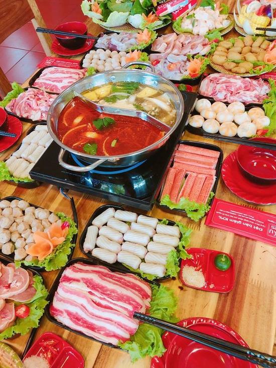 Buffet lẩu hoặc nướng Menu 98K siêu hấp dẫn + free coca tại NH Sen Vàng