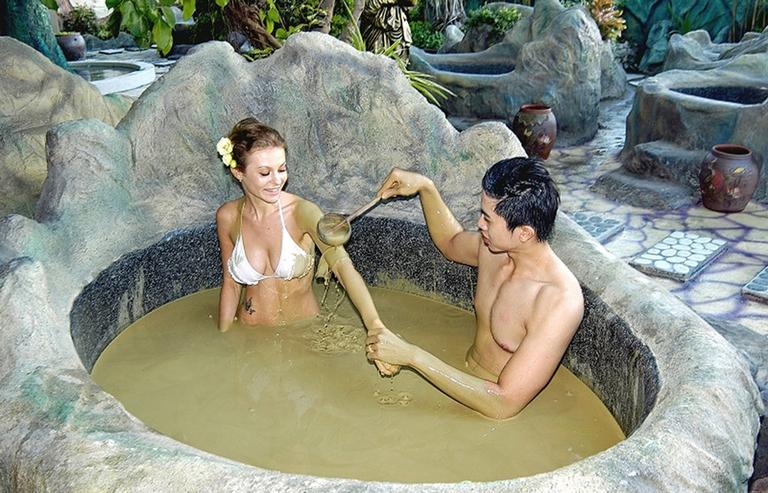 Tắm bùn khoáng cho 2 người + xông hơi khô, ướt tại Galina - Không phụ thu Lễ, Tết