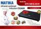 Bếp đôi hồng ngoại - điện từ MATIKA MTK 340 SL03-1