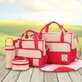Bộ túi 5 chi tiết chấm bi hữu dụng cho mẹ và bé