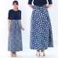 Váy chống nắng 2 mặt họa tiết tiện dụng