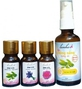 Combo 04 lọ trị nám tàn nhang dành cho da nhờn (Hoa hồng + Trà Xanh + Oải hương + Dầu chống nắng dưỡng da Trà xanh)